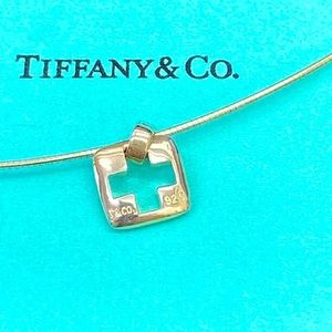 Tiffany OMEGA Thick cut out Cross Necklace Rare 😍